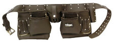 """10 Pocket Tool Professional Pouch Double Oil Tanned Leather Belts 38""""-49"""" ROLSON"""