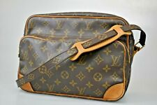 Authentic LOUIS VUITTON Nile Shoulder Bag Monogram Leather Brown M45244 65JC033
