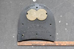 Old Cat's Paw Cushion Heel Store Display Sign Boot Show Repair Salesman Sample