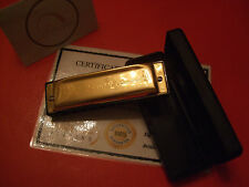 24Ct Gold Plated Harmonica Swan Key Of C Boxed Music Blues Rock Jazz Gift 24k
