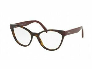 Prada Eyewear PR02TV USH1O1 54 Havana Glasses Optical Frames