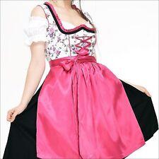 Germany,German,Trachten,Oktoberfest,Dirndl Dress,3-pc.Sz.20 Black,Fuchsia,US