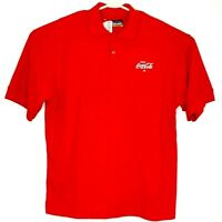 Coca Cola Mens Size Large Uniform Polo Shirt Red Riverside New With tags