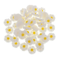 50x 13mm daisy flower resin flatback cabochon DIY jewelry phone decorations