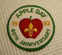"Large scouts cloth badge, Apple Day 60th Anniversary 1993, good condition, 3""."