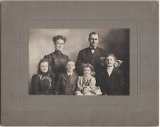 Cabinet Photo of Family Named Family - 2 Parents and 4 Children - Est. 1911 Date