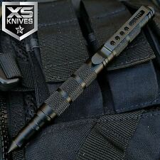 JTEC Aluminum Tactical Pen Black Military Police Knife Self Defense Kubaton