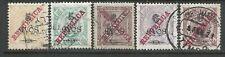 Timor 1915 - King Carlos I overprinted x 5 stamps used