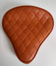 Large Custom Solo Seat Tan Diamond to fit Harley Bobber Chopper Yamaha Triumph