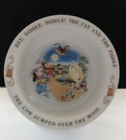 Hey Diddle Diddle The Cat And The Fiddle  Avon Ceramic 6.25 Inch Bowl 1984