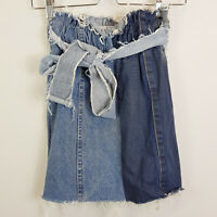 NASTY GAL | Womens Two tone Denim Skirt w/ belt [ Size S or AU 10 / US 6 ]