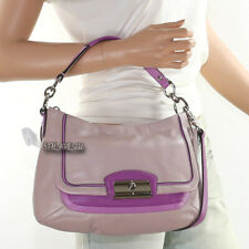 🌺🌺NWT Coach Kristin Leather Shoulder Hand Bag Crossbody Purple F23084 New 🌺