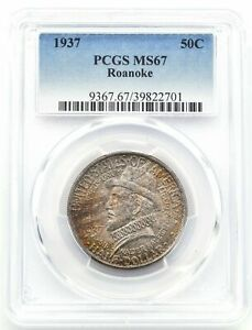 Best Price! 1937 Roanoke 50C (Half-Dollar) PCGS MS 67