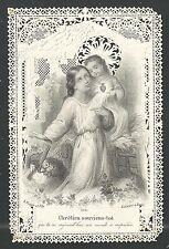 image pieuse canivet ancianne Jesus Bambino holy card santino  estampa