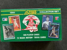 1991 Score Baseball Factory Sealed Complete Set Chipper Jones Mike Mussina RC