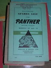 PANTHER SPARES PARTS LIST ILLUSTRATED MODELS 65 ANS 75 1950 teresa wallach