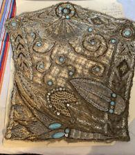 Antique/Vintage 19th Century Metallic And Jeweled Applique