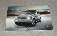 Mercedes G Class Brochure 2010 - G350 G500 G55 AMG