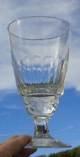 Grand verre à absinthe / vase (?) en verre taillé. XIXe s. h. 18,2 cm