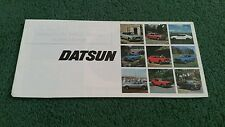 1976 DATSUN gamme UK brochure Cherry Sunny Violet Bluebird 260 C 260Z JG Allison