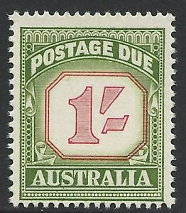 AUSTRALIA SCOTT J94 MNH FINE - 1958 1sh GREEN CARMINE POSTAGE DUE   CAT $29.00