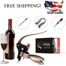 New listing Rabbit Wine Bottle Opener Corkscrew Set with Accessories and Stand Elegant Gift