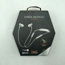 V-MODA Forza Metallo In-Ear Bluetooth Headphones Sport Earbuds Silver White