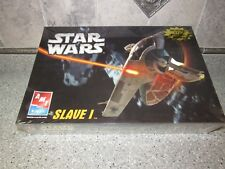 AMT ERTL 1:85 Star Wars Slave I Boba Jango Fett Plastic Model Kit 38306 + POSTER