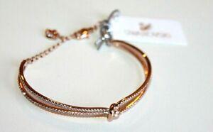 SWAROVSKI Bracelet Lifelong Bangle Rose Gold new wrap women's
