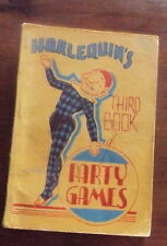 Vintage Rare Harlequin's Third Book of Party Games A H & W A Reed 1954 paperback