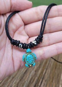 Turquoise Turtle Necklace Turtle Necklace Pendant Sea Turtle Necklace Choker