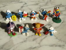 9 x PEYO SMURFS Vintage Figures TOY Retro SCHLEICH Collection SUPERTED Snorks