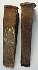 Antique VTG Primitive Rustic - LOT of 2 - Log Fire Wood SPLITTER Wedge - AUC#2