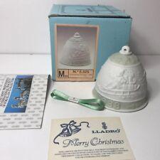 1988 Lladro Christmas Bell # 5525 Campanita Navidad Santa with Box