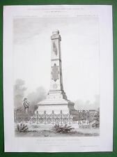 ARCHITECTURE PRINT: Paris Montsouris Park Tomb of Explorer Colonel Flatters