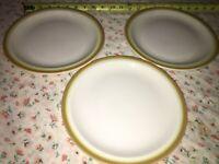 "4 VTG Buffalo China HEAVY Restaurant Ware Mustard Yello Gold 9 1/2"" Dinner Plate"