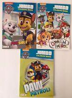 3 Kids Nickelodeon Paw Patrol Jumbo Coloring/Activity Books Mazes Matching
