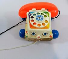 Vintage 1961 Fisher Price Chatter Box Phone Telephone Toy T22
