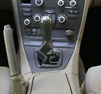 Genuine Leather Gear Shift Boot Gaiter Cover Sleeve fit Volvo S60 2001 - 2009