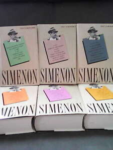"GEORGES SIMENON, LOT 6 Tomes ""TOUT SIMENON"" 7.8.9.10.11.15 France Loisirs.  NEUF"