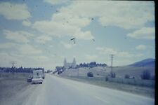 35mm slide - Vintage - Collectibles - Photo - manti temple car street camper