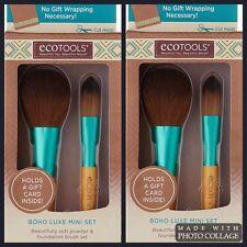 Ecotools Boho Mini Make Up Brush Sets (2 Packs - 4 Brushes)