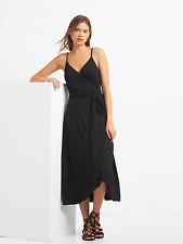 NWT - Misses GAP Gap Black Cami Wrap Dress - Size Small Tall
