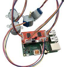 4tronix PiStep2 QUAD Stepper Motor Driver for Raspberry Pi with 4 Stepper Motors