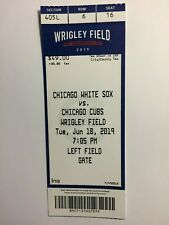 Chicago Cubs vs Chicago White Sox June 18, 2019 ticket stub