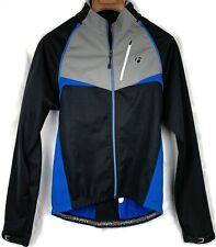 Bontrager Women's Race Convertible Windshell Jacket Sz XL Black w/ Blue Accents