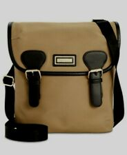 H58 Calvin Klein Dark Beige Florence 100% Nylon Crossbody Handbag