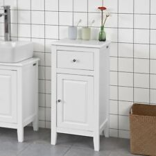 SoBuy® Wood Bathroom Storage Cupboard Cabinet with Drawer,White,FRG206-W,UK