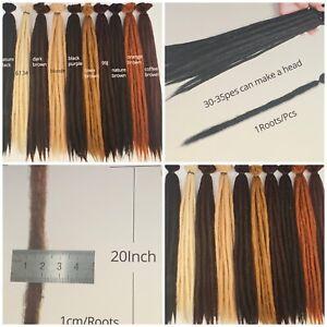 "100% Handmade 20"" Dreadlocks  Crotchet Hair Kanekalon Synthetic Extensions Braid"