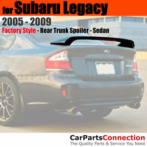 Primer ABS Rear Trunk Spoiler Wing with 3rd Brake Lamp For 05-09 Subaru Legacy